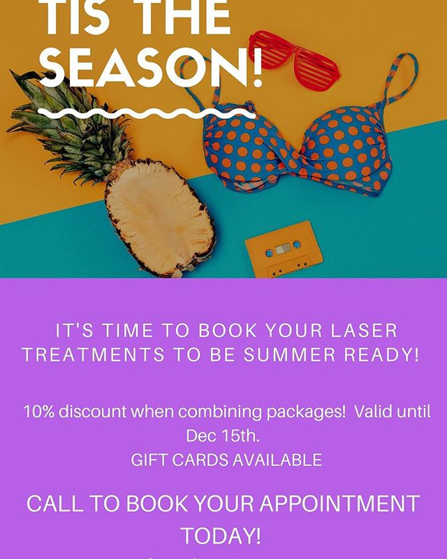 (905)467-5446 www.laserveinclinic.ca #laser #laserburlington #tistheseason #summerready #veintreatment #botox #skintreatment #laserhairemovalburlington