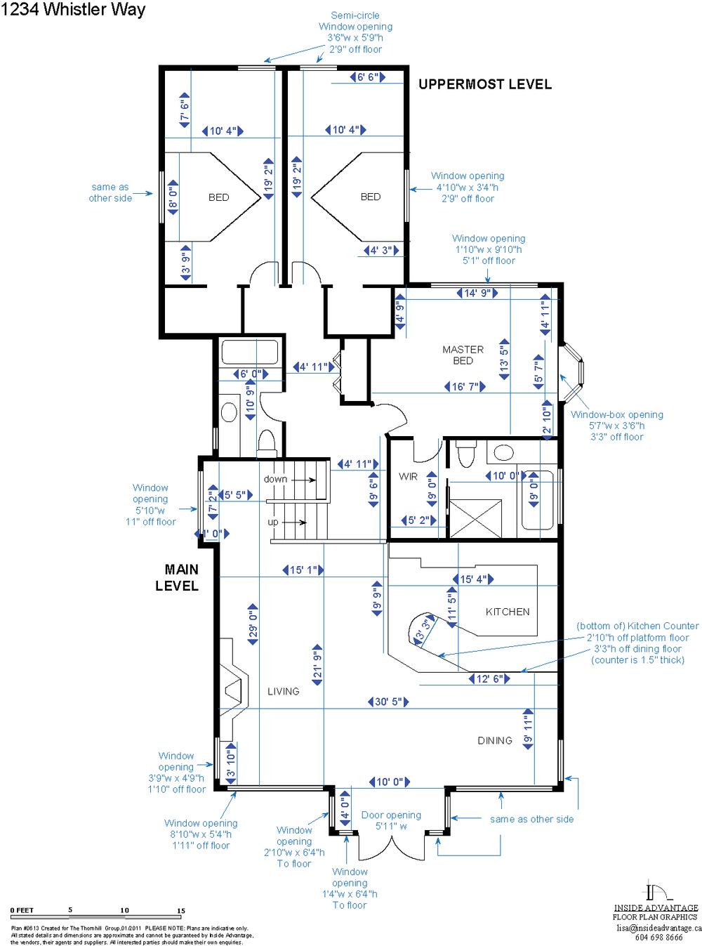 Renovations Custom Jobs Inside Advantage Whistler Floor Plans Plan B Electrical Detailed Dimensions
