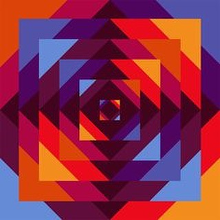 Herbert Bayer art abstract geometric. American painter, designer, photographer and typographer, of Austrian birth. From 1921 to 1923 he attended the Bauhaus in Weimar, studying mural painting (with Vasily Kandinsky) and typography.925 he returned to the Bauhaus, then in Dessau, as a teacher of advertising, layout and typography, remaining there until 1928.  #art #bauhaus #geo #geometric #design #vintage #color #painter