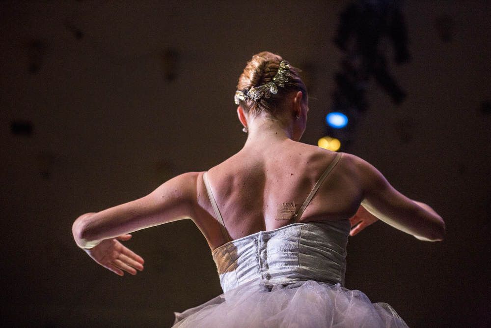 Sarah Hayes Harkins performs in  Danses Brillantes with the Charlotte Ballet company in the Chautauqua Institution Amphitheater on July 14, 2015.