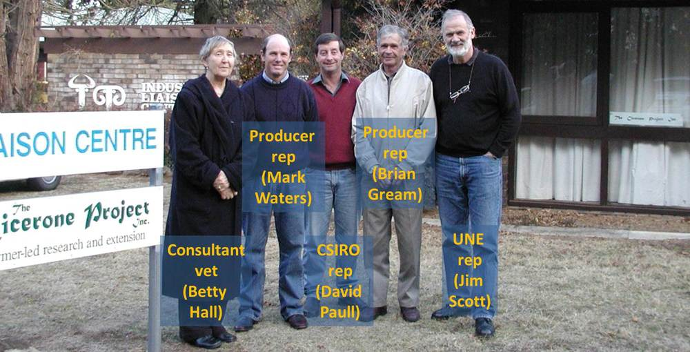 Some of the Cicerone Board members on a chilly day in 2006