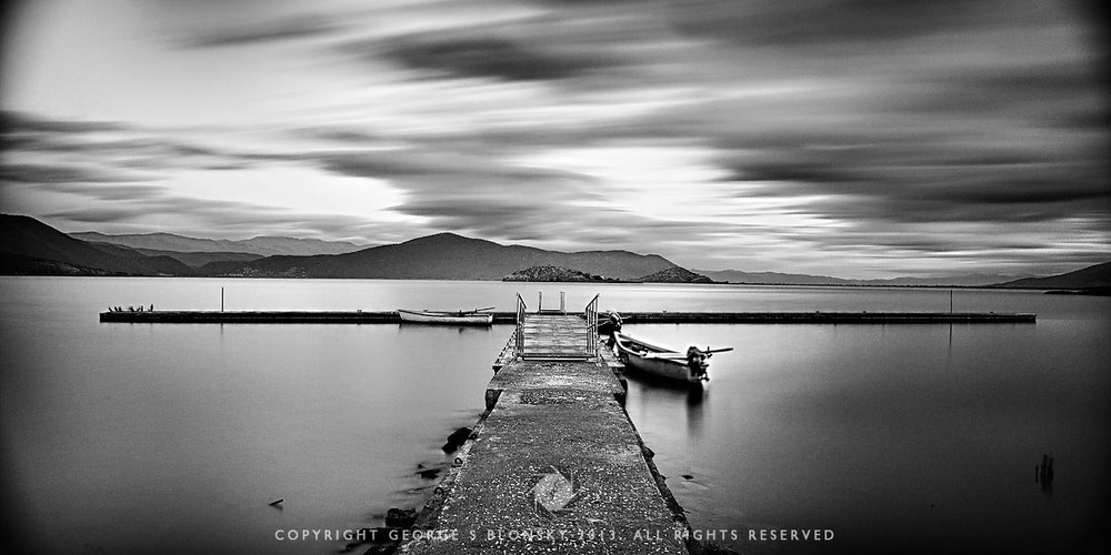 the pier at MikroLimni photographed during our autumn 2013 landscape photography workshop and tour of northern Greece