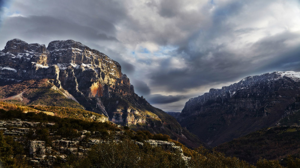 The Vikos Gorge in Western Pindos photographed during one of our winter landscape photography workshops and tours of western Greece