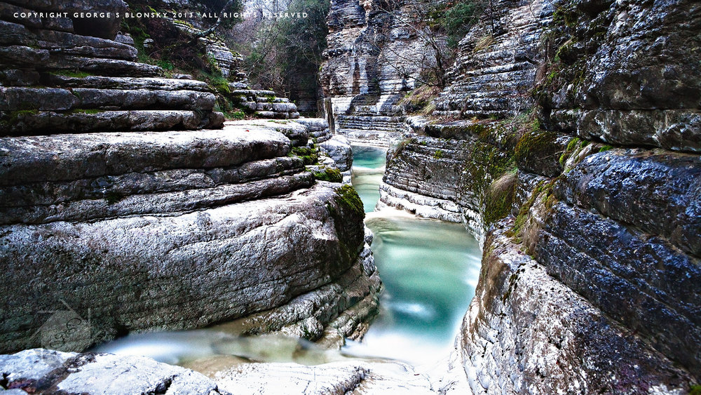 Kolimbithres canyon near Mikro Papigo photographed during our landscape photography workshop