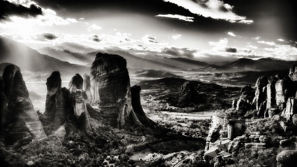 The Meteora photographed during landscape photography workshop with george s blonsky in Greece
