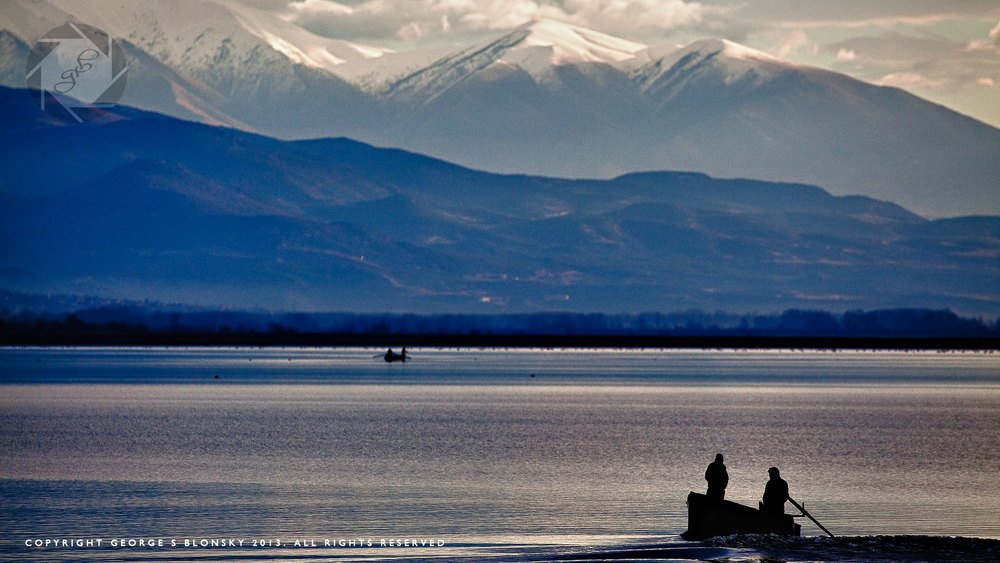 Fishermen on Lake Kerkini photographed on one of our landscape and wildlife photography workshops and tours of Lake Kerkini