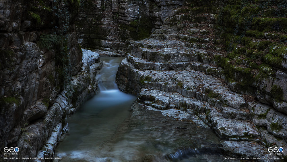 Small river canyon photographed during our landscape photography workshop to meteora and the pindos mountains in greece