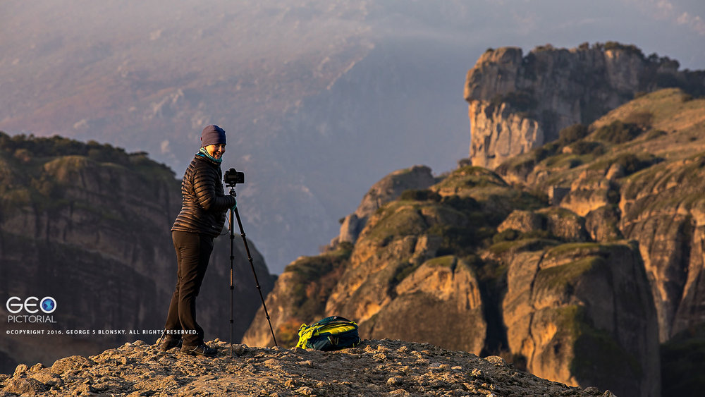Photographing the meteora monasteries at dawn on our landscape photography workshop