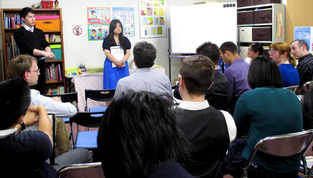 ↑浜田山校で開催されたNLT研修の様子