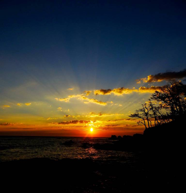 南三陸の朝日
