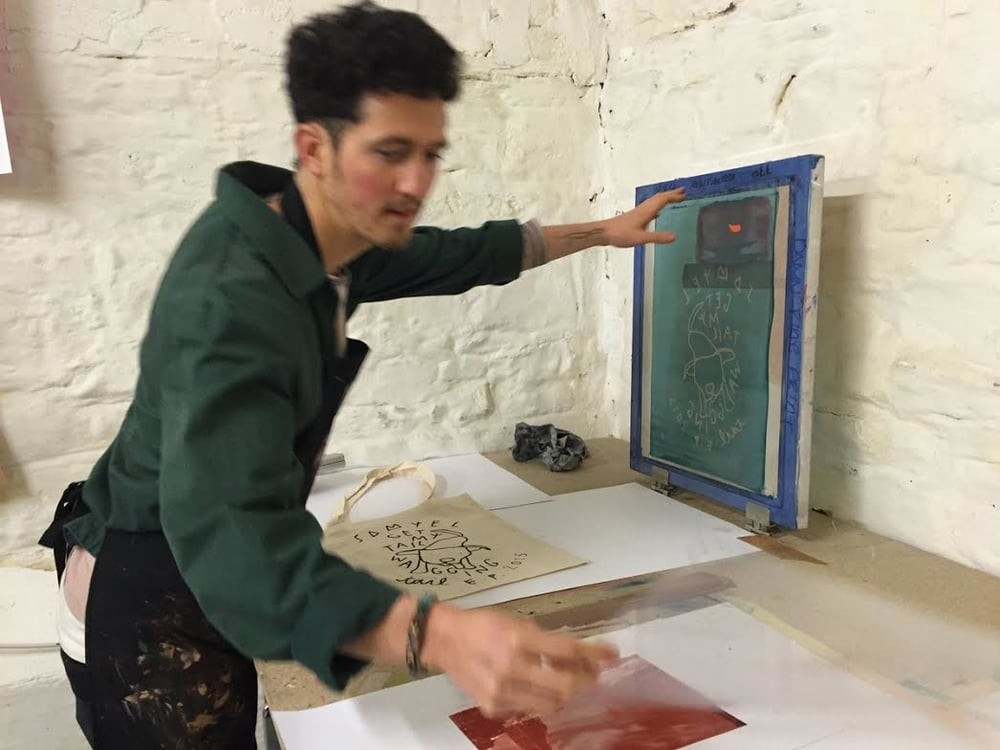 Samuel puts some designs down on paper at our studio in Stoneybatter