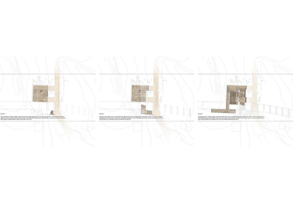 site plans : level 0, level 1, level 2