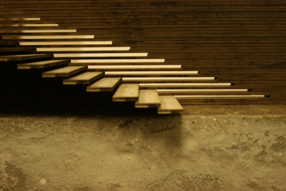 Stair detail : inspired by previous study of pedestrian movement in 'Marseille Irrigations'