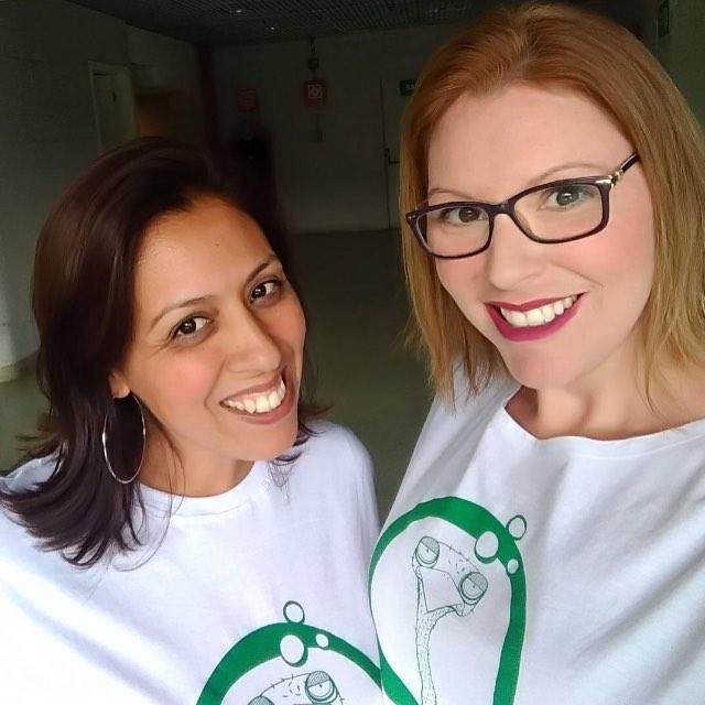 Selminha e Maria Carla preparadas para o show do Radiohead hoje no @allianzparque !!! #gloopsnoalliance #allianceparque #radiohead #gloops #arenapalmeiras