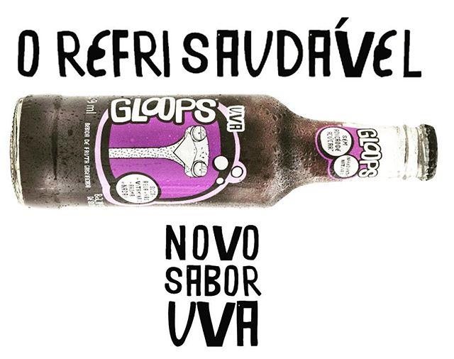 Nosso novo sabor de Uva tá chegando nas lojas. Fique ligado! #gloopsuva