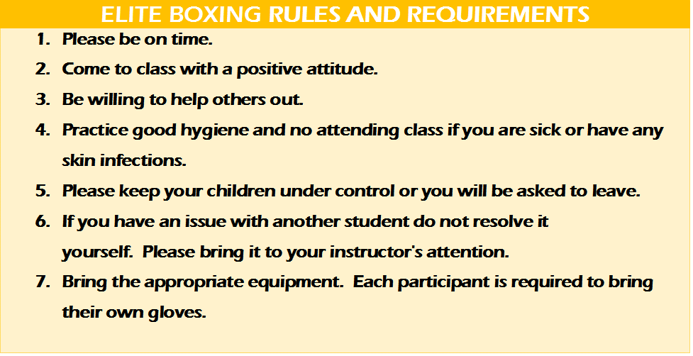 Elite Boxing Rules and Requirements at American Top Team West Palm Beach