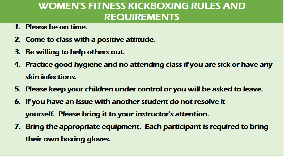 Top Team Fitness Women's Kickboxing Rules at American Top Team West Palm Beach