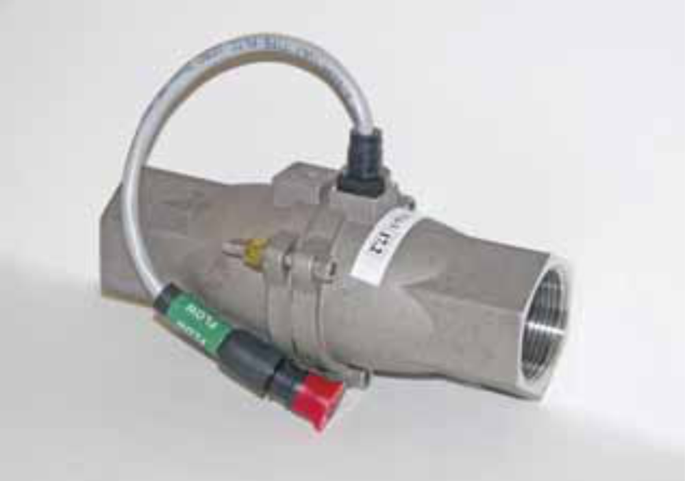 """Hiniker HM860 1-1/4"""" 70 GPM stainless steel flow meter"""