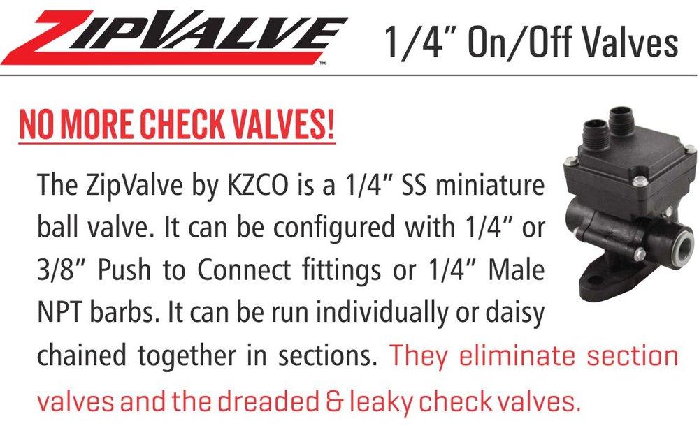 KZ Zip Valves