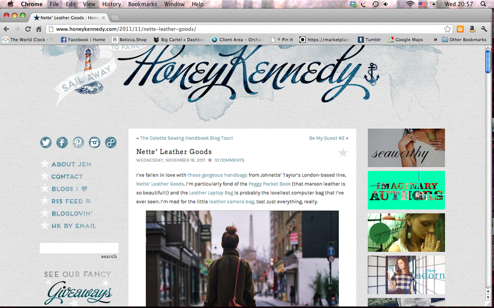 Honey Kennedy.