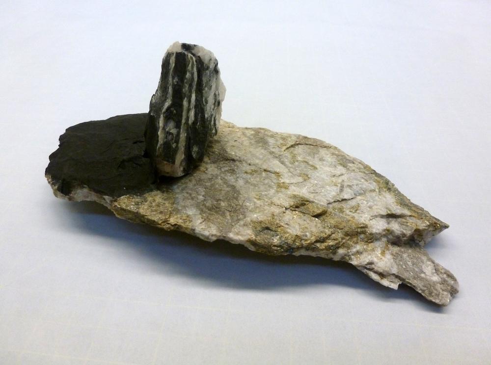 """Two Stones , 2012, stones, papier-mâché, charcoal, L 8.5"""" x W 4"""" x H 4"""""""
