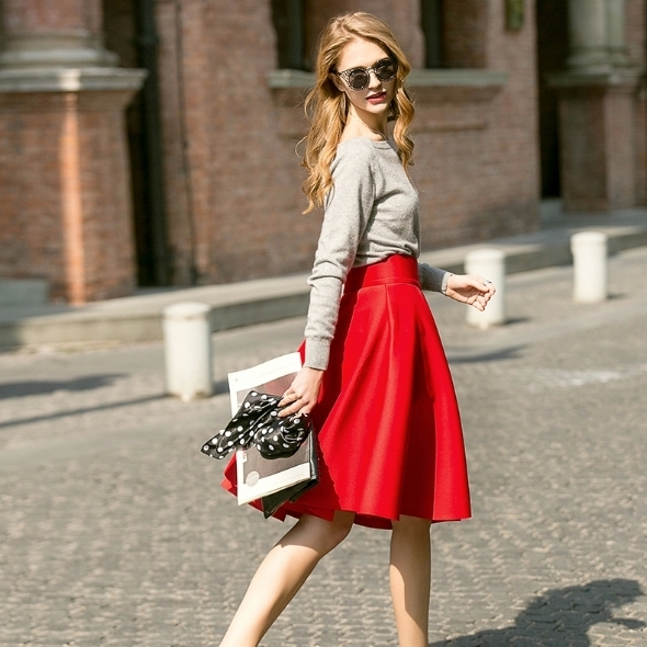 When in doubt wear red  - Bill Blass