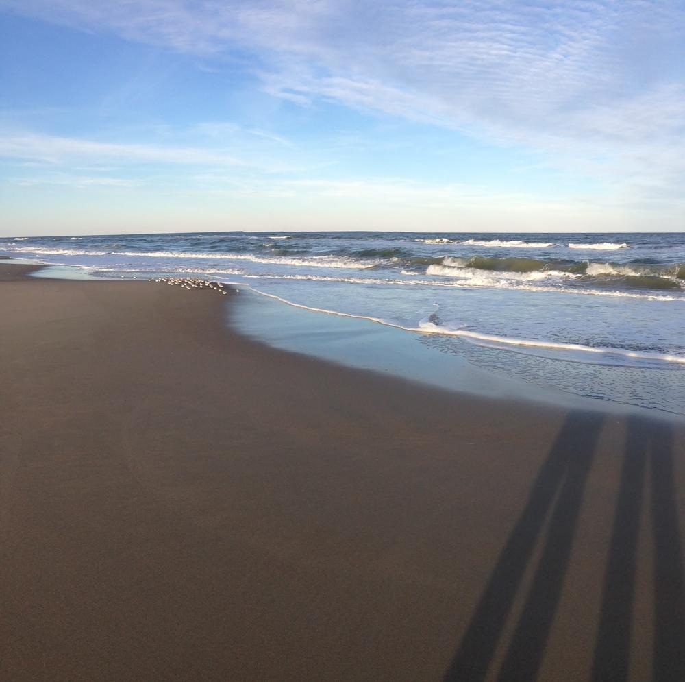 Our shadows + the Atlantic