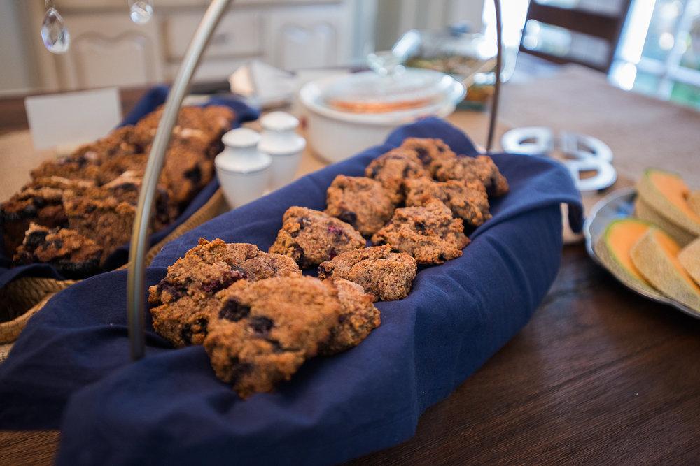 Paleo Lemon + Blueberry Scones/Breakfast Cookies!