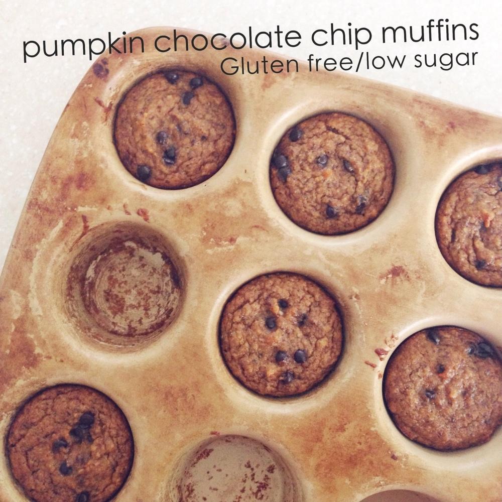 Pumkin Chocolate Chip G-free Muffins