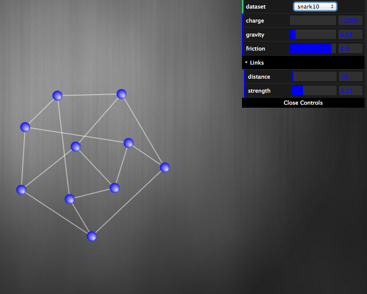 Snark graph with 10 vertices (a Peterson graph)