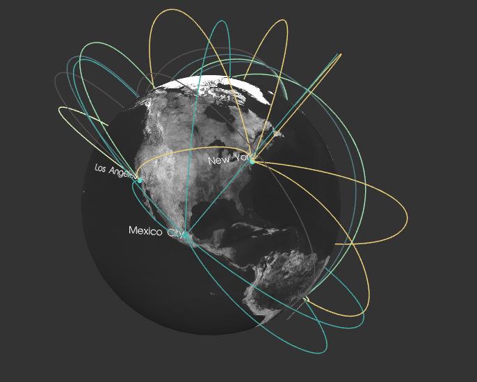 Flying Arcs - WebGL Demo - TrueType Fonts
