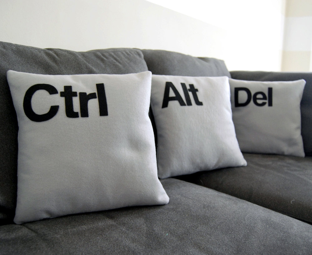 Ctrl Alt Delete pillow covers