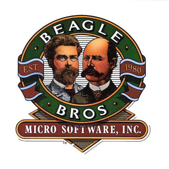 beagle bros moustache logo