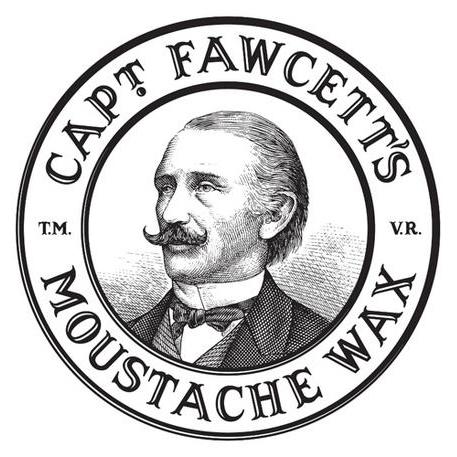 Captain Fawcett moustache logo