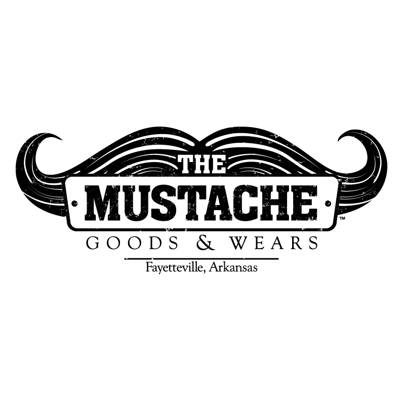 the mustache logo