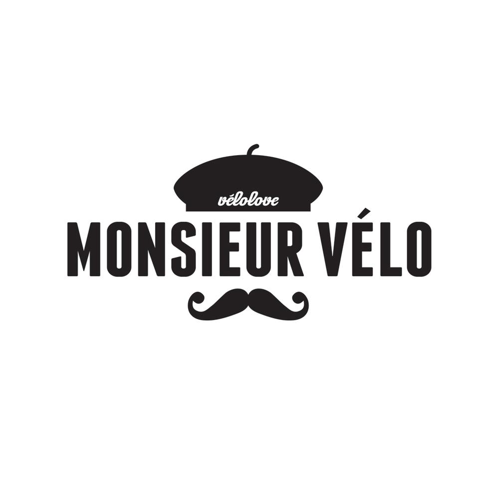 monsieur velo moustache logo