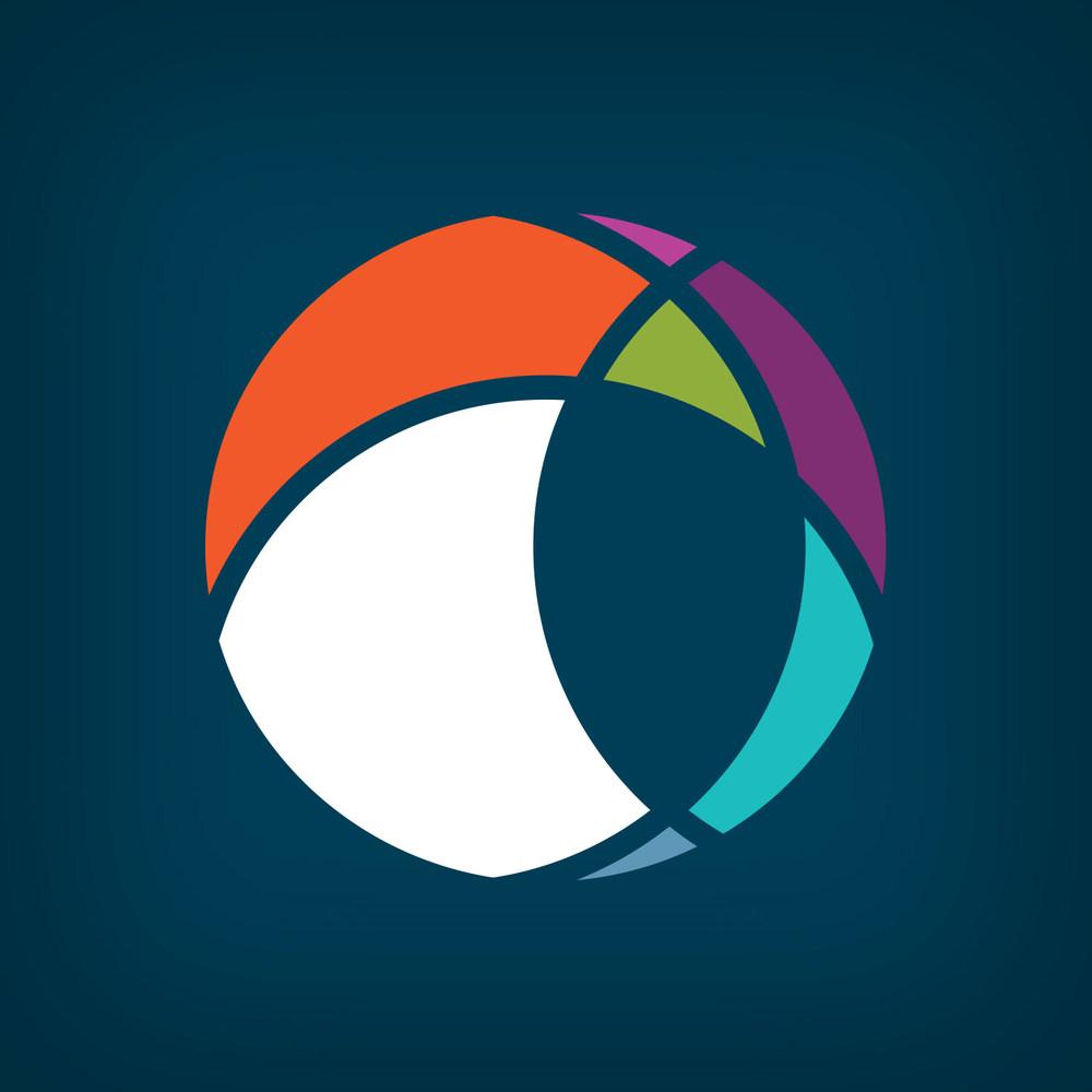 modern globe logo concept