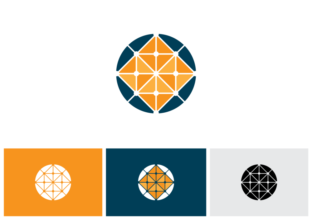 Isometric globe logo design