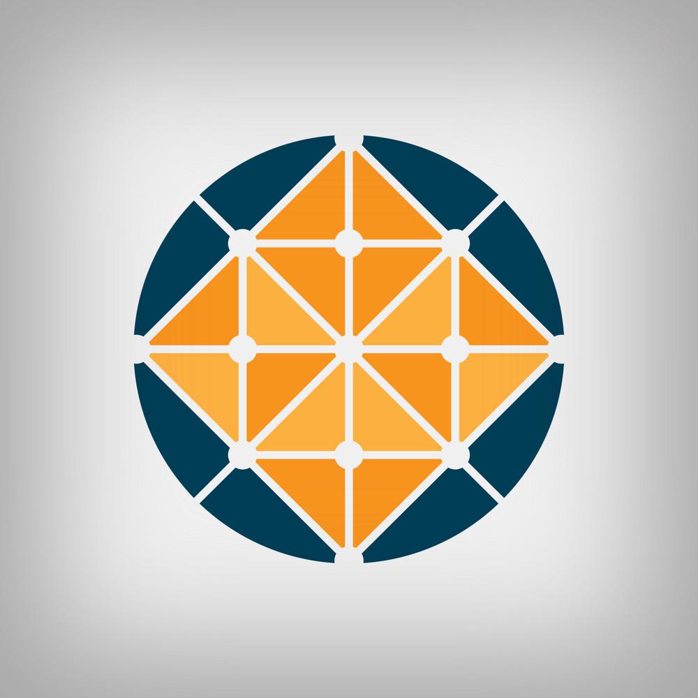 Isometric globe logo concept