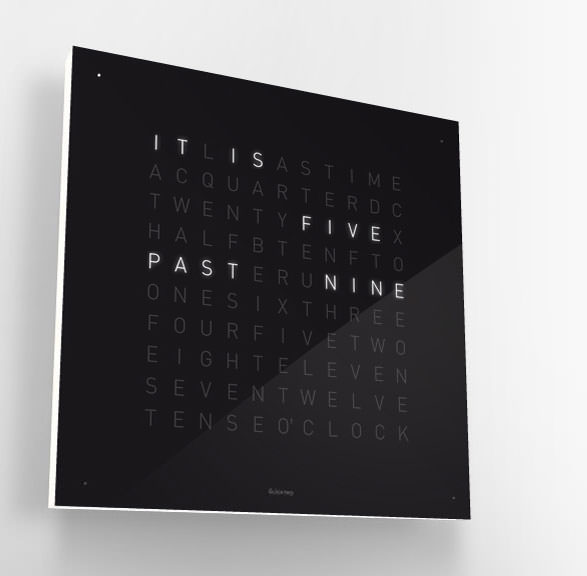 Qlocktwo contemporary clock present
