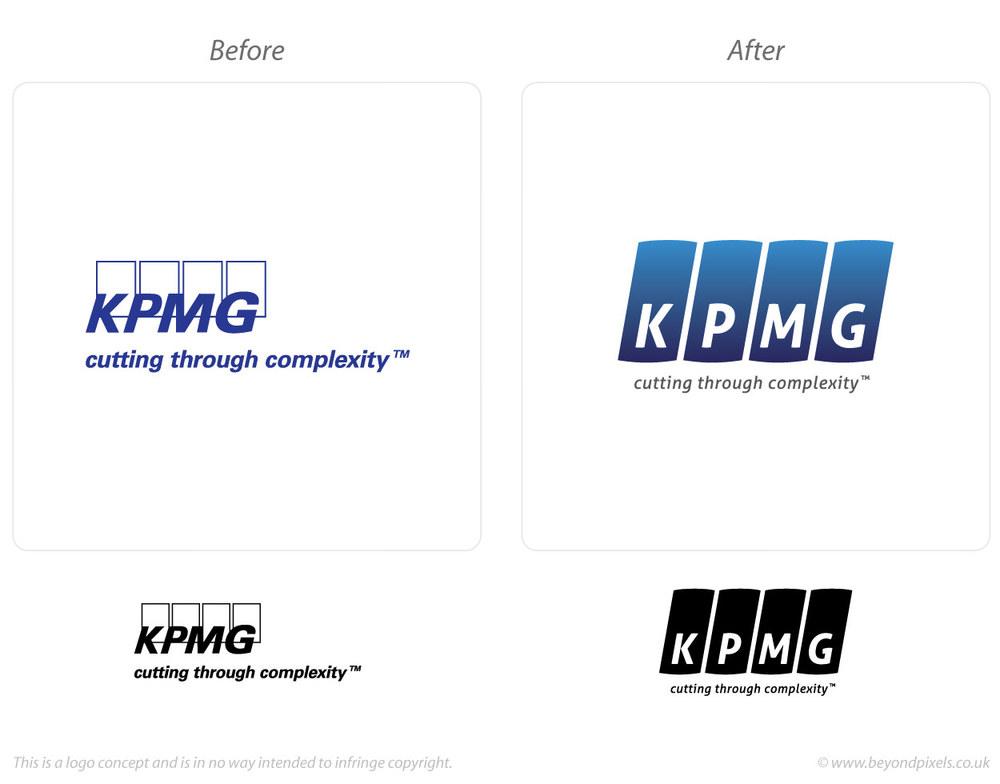 KPMG Logo redesign concept