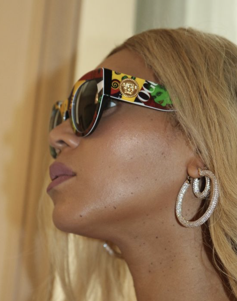 Beyoncé in the NEW Luv AJ Pavé Amalfi Hoops