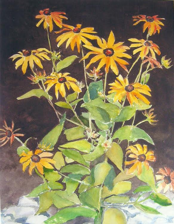 Black-eyed Susan, A Watercolor by janet grant