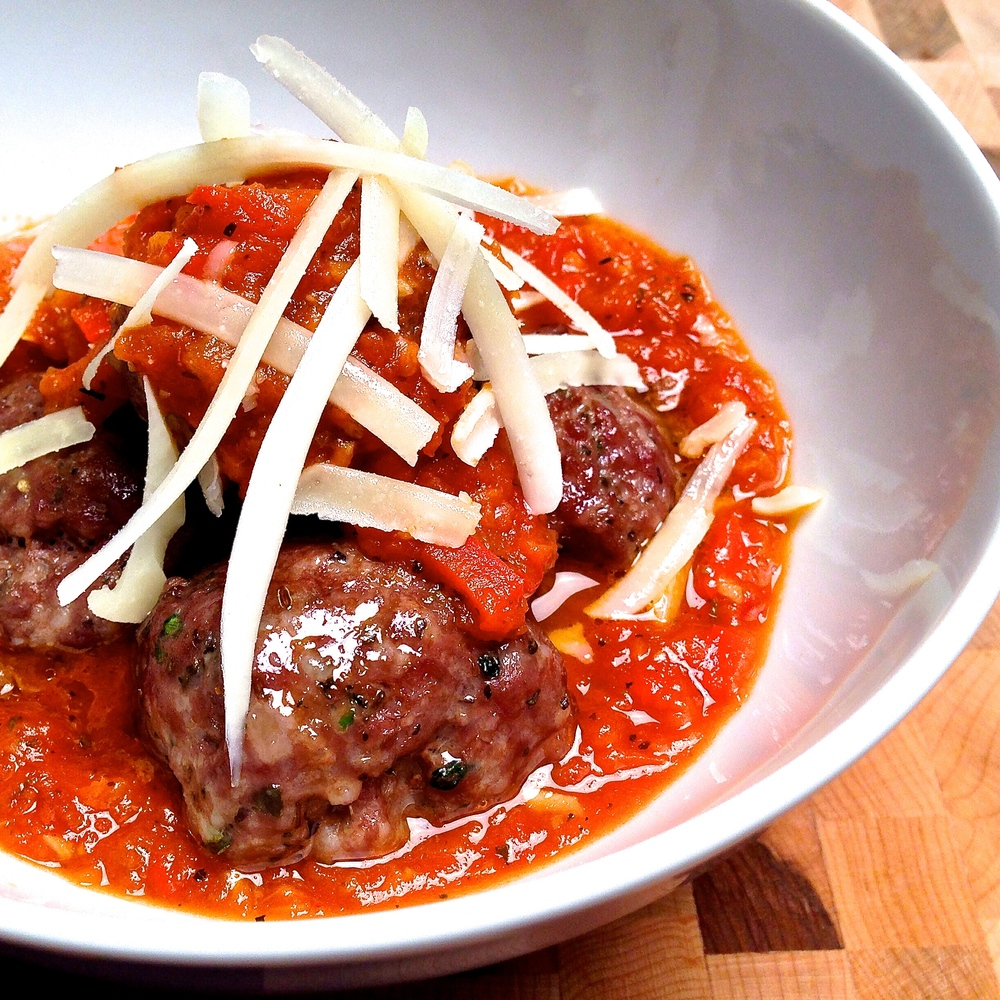 Grass Fed Beef Meatballs and Homeade Sauce