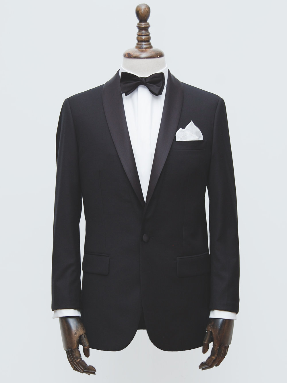 Black Shawl Collar