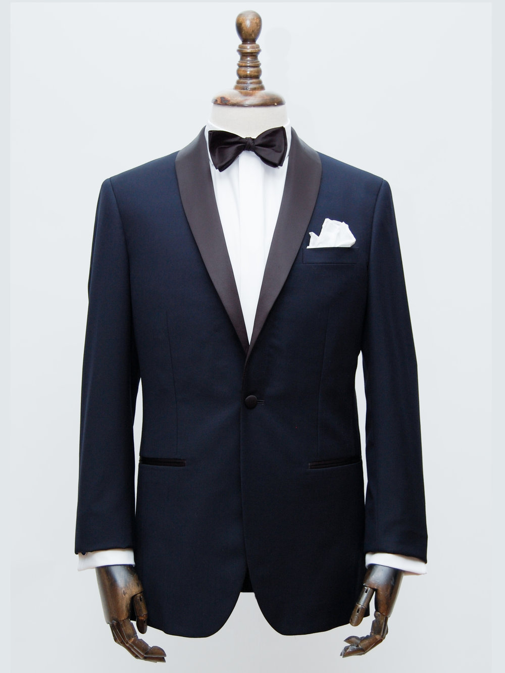 Navy Shawl Collar