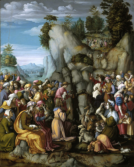 """Moses Striking the Rock"" by Francesco Bacchiacca, National Gallery of Scotland, Edinburgh."