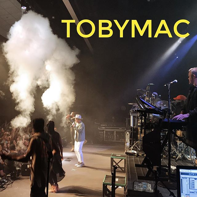 It's TobyMac bringing the 🔥 at #campelectric2017
