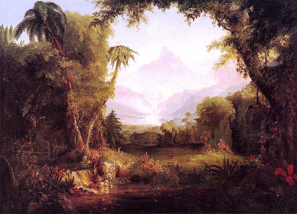 "Thomas Cole- ""The Garden of Eden"""