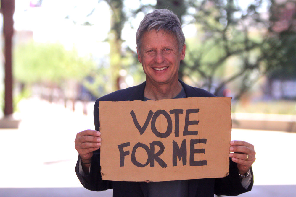 Libertarian Candidate Gary Johnson Photo Credit:  Gage Skidmore